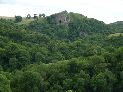 Thor's Cave from the spur above Wetton Mill